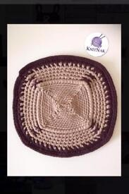 Crocheted mat