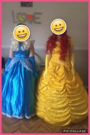 Cinderella & belle dresses...as new
