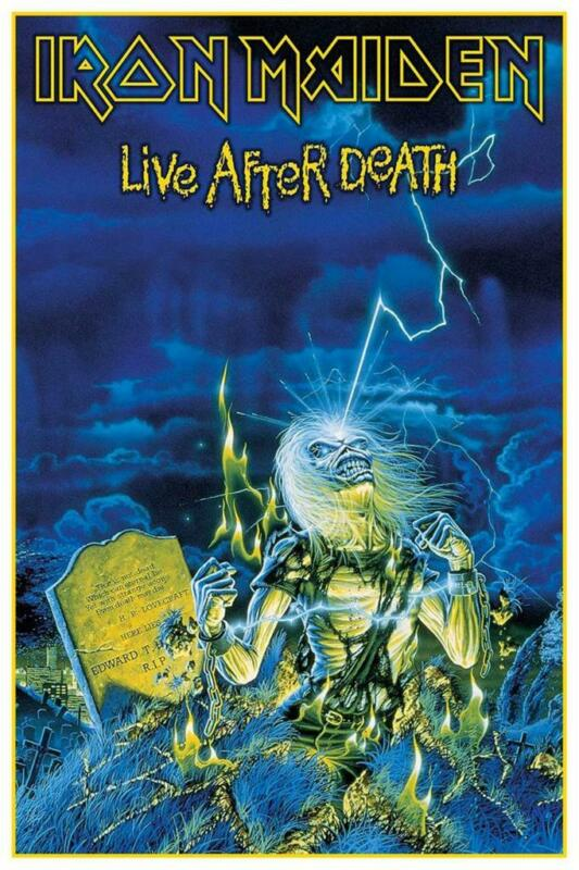 """Iron Maiden - 24"""" POSTER - Live After Death AMAZING IMAGE Heavy Metal print"""