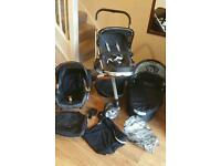 Quinny buzz 3 pram/pushchair travel set. Very good condition. With maxi cosi car seat & accessories