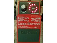 Boss RC-1 Loop Station looper pedal with FREE FOOTSWITCH, works perfectly