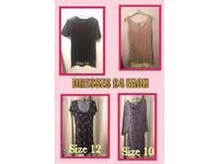 Selection of ladies dresses & tops from £3