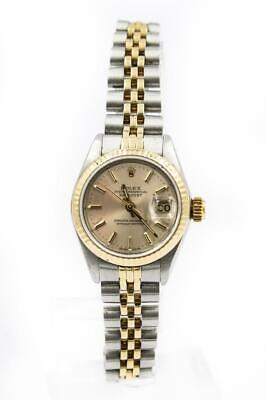 Ladies Rolex Two-Tone Oyster Datejust Wristwatch Ref 69173 Circa 1986