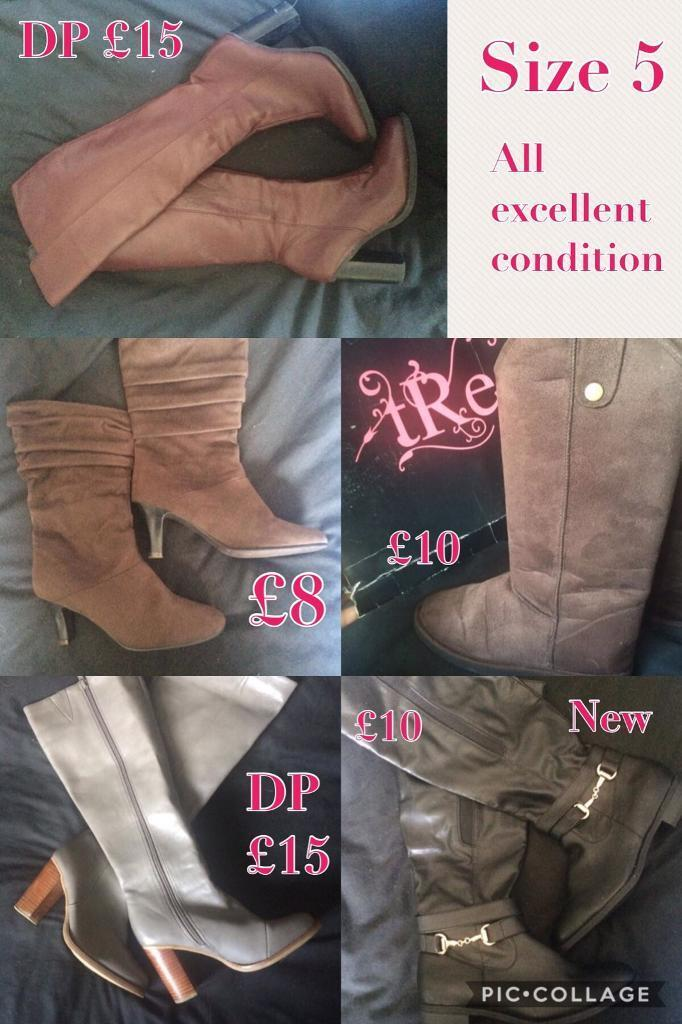 Variety of size 5 boots