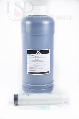 1 Pint Kit - 1 pint premium Black ink kit refill any printer HP Lex Dell 16oz