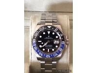 Rolex gmt master 2 batman black & blue luxury automatic Watch brand new in Swiss wave box