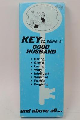 Vintage Gag Novelty Gift - 1979 CAL-THEMES KEY TO BEING A GOOD HUSBAND - #R-0-T](Good Gag Gifts)
