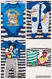 Baby boys 0-3 and 3-6 clothes bundle