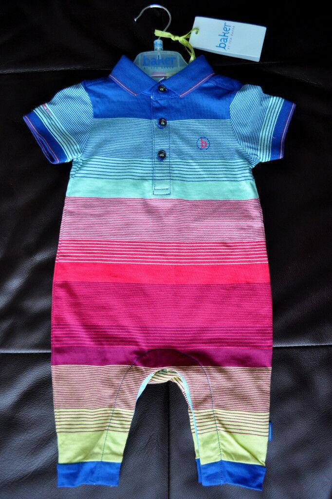 Girls' Clothing (newborn-5t) Baker Baby Boy 3-6 Months Romper One-pieces