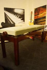 New adjustable double seat piano bench