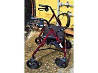 Lightweight 4 Wheel Rollator Walking Mobility Frame
