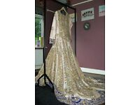 Brand new Asian bridal dress, never worn, with tags.