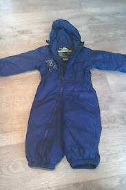 12 - 18 months fully lined puddle suit