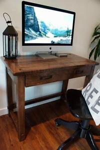 ON SALE! Solid Reclaimed Wood Writing Desk 20% Off, By LIKEN Woodworks