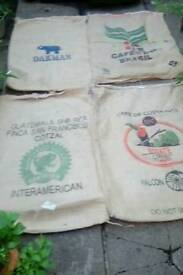 Assorted designs 70kg hessian coffee sacks