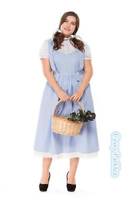 Plus Size Wizard of OZ Dorothy Fancy Dress Storybook Fairytale Halloween Costume