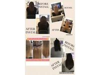 "£99 20"" 110grams including install remy hair extensions & braided install"