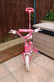 "Girls Pink 10""inch bike"
