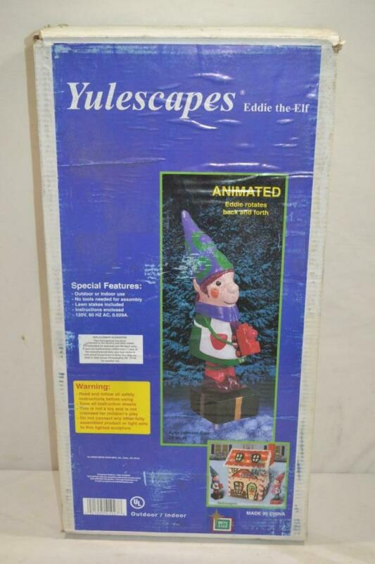 """Yulescapes 26"""" Animated Eddie The Elf Christmas Display   NEW IN BOX"""