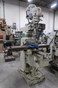 "First Model LC 185 VS 9""X51"" TSLOT Vertical Milling Machine w/3HP Kurt Vise & Heidenhain Digital Read Out"