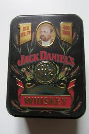 Vintage Jack Daniels Tin, Old Time Tennessee No 7 Brand Whiskey (empty)