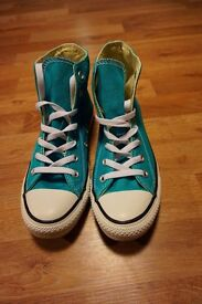 BRAND NEW Converse All Stars Women's Hi Tops Trainers Turquoise Size 6 RRP £55!