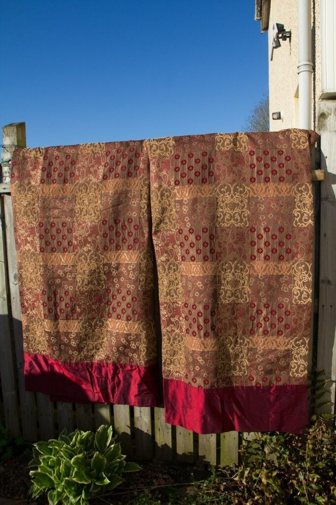 """Beautiful heavy lined curtains 64"""" X 99"""""""