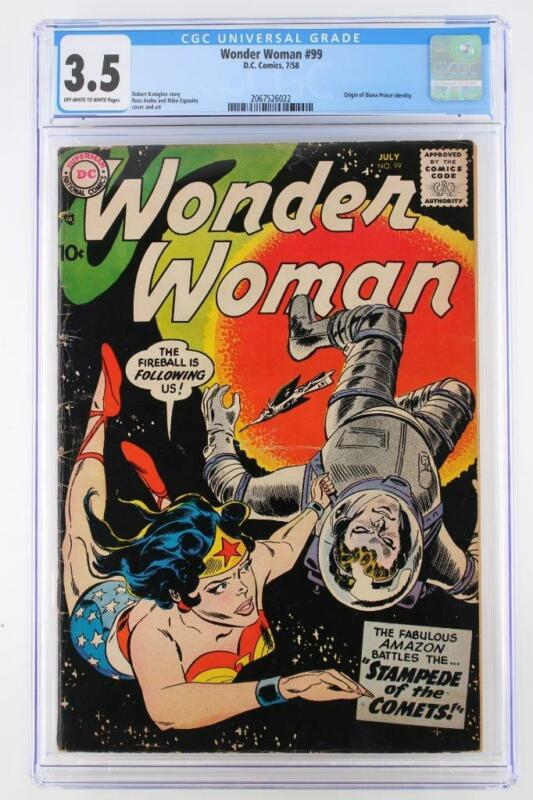 Wonder Woman #99 - CGC 3.5 VG- DC 1958 - ORIGIN of Diana Prince!