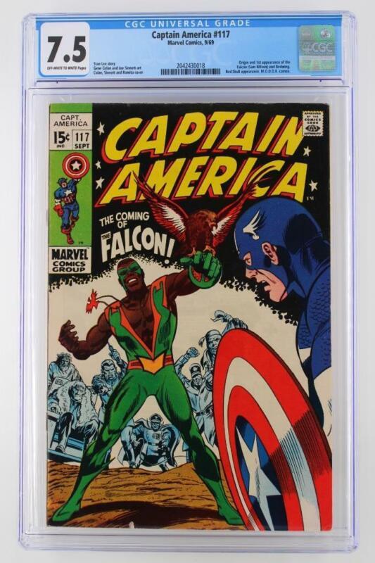 Captain America #117 - CGC 7.5 VF- Marvel 1969 - 1st App & ORIGIN of The Falcon!