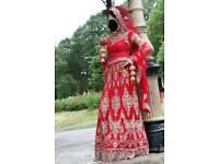 Asian Wedding lengha (dress) in red
