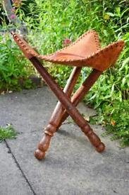 URGENT! - ONO    Traditional African Elephant Design Wooden Stool