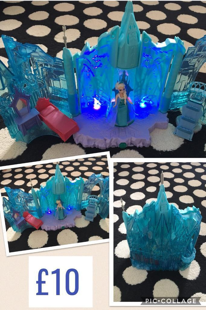 Frozen magical lights castle