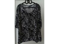 Various Ladies Tops size 16 and 18.
