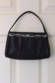 LAURA ASHLEY vintage, small black handbag
