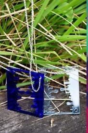 Arty Acrylic Necklace-Available in two colours (24 Inch)