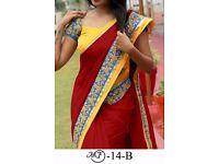 Bollywood Indian Party Wear Beige Pink Saree Sari Bridal Wedding Pakistani Sai-9