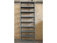 1 x Bay Used Metal 2.5m / 8ft 2in Solid Steel Heavy Duty Warehouse Industrial Shelving