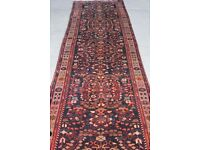 Very Long & Rare Vintage Hand Woven Tribal Persian LiLian Runner rug 490x100 cm