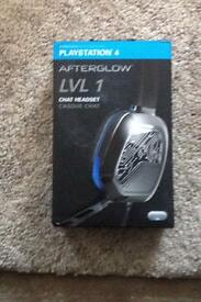 Ps4 afterglow lvl 1 chat headset