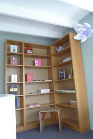 oak veneer Billy Bookcases, perfect condition