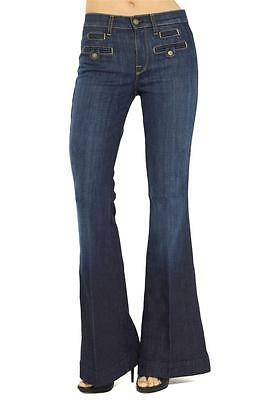 7 For All Mankind Savanah Los Angeles Dark Trouser  Jean Denim La Welt Pocket