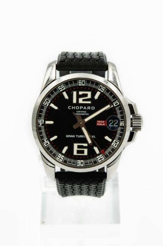 Men's XL Steel Chopard Grand Turisimo Wristwatch 1000 Miglia 8997 - watch picture 1