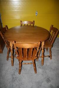 Country Solid Maple Dining Set by Nadeau!