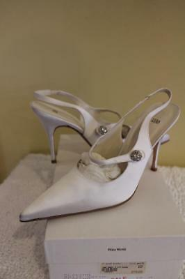 NWOB Vera Wang WEDDING ECHO WHITE  Gloecho Formal Shoes HEEL SIZE 10 (TACO500