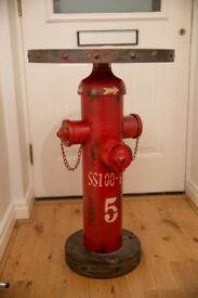 Side Table Fire Hydrant Industrial Style Shabby Chic