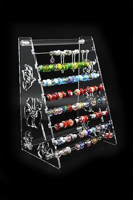 Acrylic 2-way Display Rack Pandora Charms Beads Bangle Jewellery Floral Stand