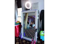 magic mirror photo booth hire, photo booth hire, selfie mirror photo booth