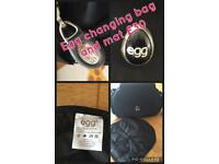 Egg changing bag and changing mat