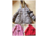 Girls coats size 1.5-2 years