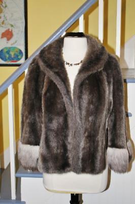 Very Nice Vintage Regina Glenara FAUX FUR Cape Coat Stole Shrug Jacket One Size (Faux Fur Cape)